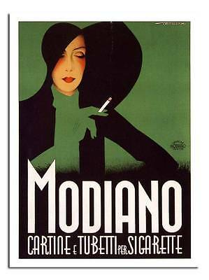 Modiano Cigartet5te Papers 1920s Art Deco Retro Advert Poster #1 A3 Size Print