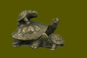 Bronze-Sculpture-Statue-Turtle-Reptile-Garden-Yard-Art-Hot-Cast-Home-Decor-Art