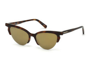 a086b42a210 Image is loading sunglasses-DSQUARED2-DQ0298-havana-brown-mirrored-53G