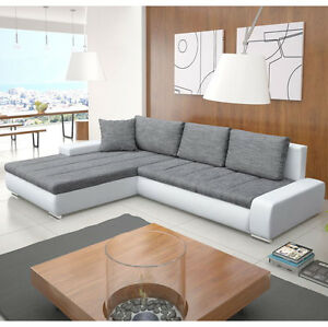 Image is loading Corner-Sofa-ORKAN-Bedding-Container-Sleep-Function-Many-