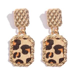 Leopard Striped Stud Earrings