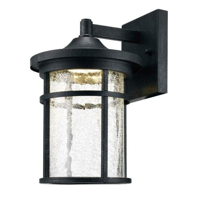 Home Decorators Aged Iron Outdoor Led Wall Lantern W Le Gl New