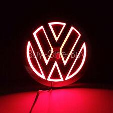 5D Reflective LED LOGO Emblem Badge Decal Sticker Lights For vw Volkswagen Red