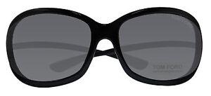 c63fd76d46d Tom Ford FT0008 Jennifer Soft Square Black Gray 61mm Sunglasses TF8 ...