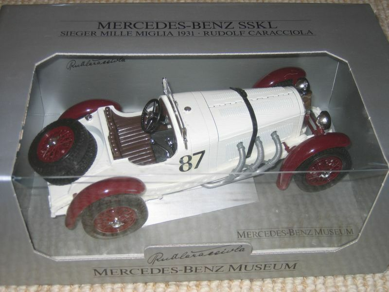 Nib - bburago mercedes - benz sskl 1931 druckguss auto 1,18 - in italien