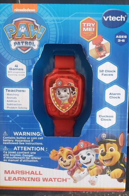 VTech PAW Patrol Marshall Learning Watch, Red   [E-BX905]