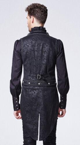 Weste Jacke Gothic Barock Dandy Jacquard übertragbar Stickerei Punkrave Herren