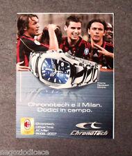 [GCG]  P520 -Advertising Pubblicità -2006- CHRONOTECH E IL MILAN DODICI IN CAMPO