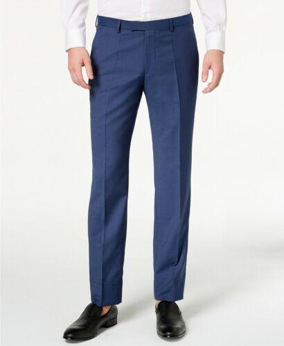 Hugo Boss HUGO Men/'s Modern-Fit Micro-Tic Virgin Wool Suit Pants 32 L Navy