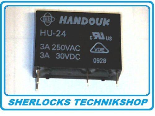 Relais Handouk HU-24 24V 1 Schließer 1 Form A 250VAC//3A 30VDC//3A