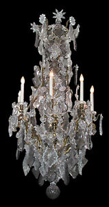 Baccarat crystal bronze chandelier 2898 ebay image is loading baccarat crystal amp bronze chandelier 2898 aloadofball Choice Image