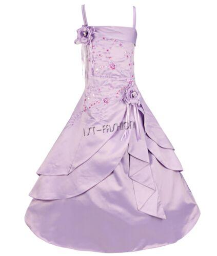 Mädchen fest Kommunions Hochzeit Kinder festlich Party kleid e Weihnachten Kleid