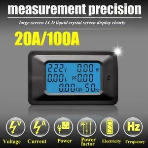 Max-100A-AC-LCD-Digital-Panel-Power-Watt-Meter-Monitor-Voltage-Voltmeter-Ammeter