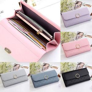 Lady Women/'s Handbag Leather Clutch Wallet Long Card Holder Case Fashion Purse