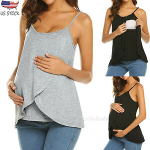 828b776fc10f3 Image is loading Women-Pregnant-Maternity-Breastfeeding-Shirt-Wrap -Blouse-Strappy-