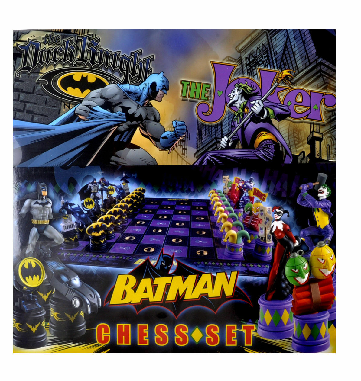 El Ajedrez De Batman Set DC Comics Dark Knight VS Joker Tablero NOBLE COLLECTION