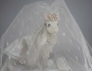 Vintage-My-Little-Pony-BRIDAL-BEAUTY-White-Wedding-Bride-Pony-Wear-G1-MLP