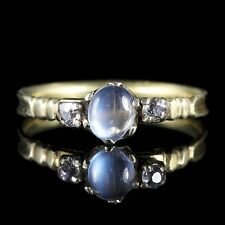 ANTIQUE GEORGIAN MOONSTONE DIAMOND RING 18CT GOLD CIRCA 1800