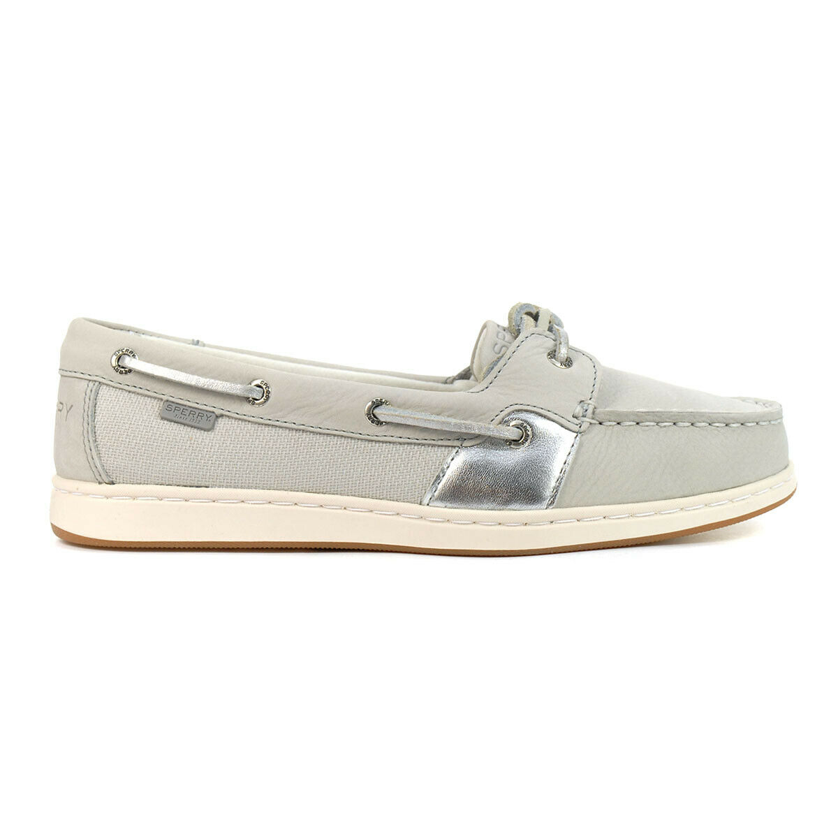 Sperry Women's Coastfish 1-Eye Vapor/Silver Boat Shoes STS85981 NEW