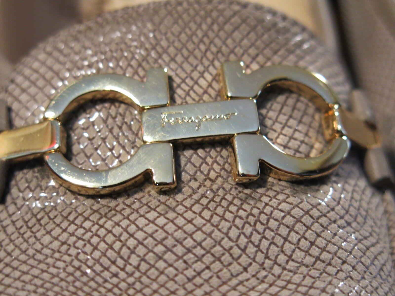 Salvatore Ferragamo Damenschuhe 7.5 Embossed Gray Snake Horseshoe Bit Loafers