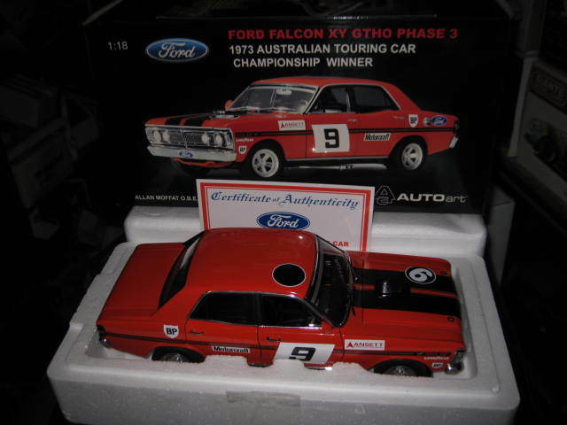 1.18 BIANTE bilkonst 1973 ATCC WINTER ALLAN MOFFAT FORD FALCON XY GTHO PH3