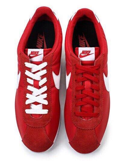 Nike Classic Cortez Nylon Unisexe 807472-600 Rouge Noir Blanc UK 5.5 UE 38.5 24 cm