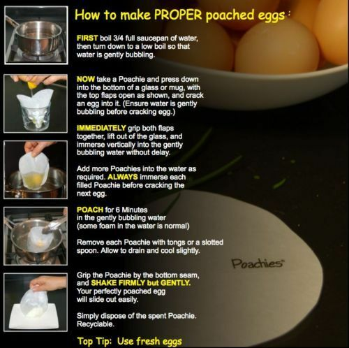 New WILTSHIRE Non-stick Poachies Egg Poacher 80 Bags Made in UK!