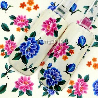 water transfer nail sticker decals nail art decoration tool flowers design M81