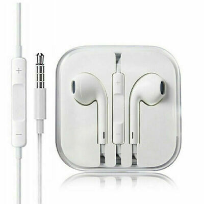New Headphones Earphones With Remote Mic For Apple Iphone 6s 6 5 5s 4s White Ebay