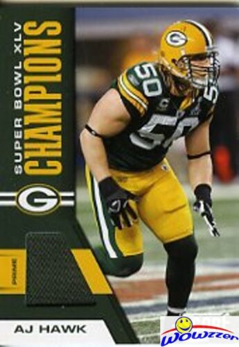2011 Score AJ Hawk Packers Exclusive Super Bowl 45 Champions GU Jersey Patch