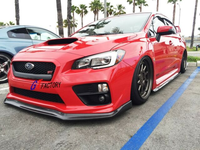 CARBON FRONT LIP SPOILER + SIDE SKIRTS + REAR FOR 2015+ SUBARU WRX & STI USE