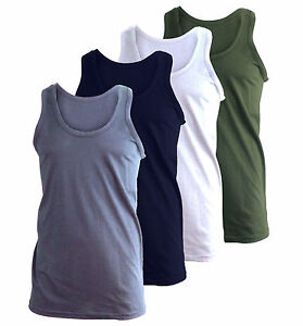 3-X-MENS-VESTS-100-COTTON-TANK-TOP-SUMMER-TRAINING-GYM-TOPS-PACK-3-COLOURS-NEW