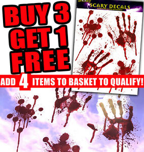 BLOODY-HAND-PRINT-Stickers-Halloween-Decoration-Zombie-Dead-Kid-Party-Prop-Scary