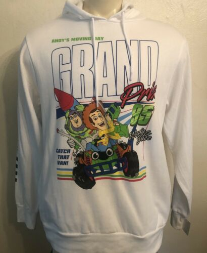 XL New With Tags Toy Story Andy/'s Moving Day White Men/'s Hoodie Size