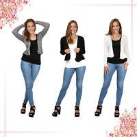 Womens Long Sleeved 2015 Bolero Shrug Jacket Top Ladies Cardigan Size 8 10 12