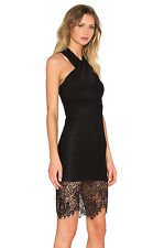 BARDOT LACE ALLURE DRESS MIDI Black Lace M NWT Halter Perfect! GORGEOUS!!!