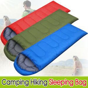 Details about Adult Winter Single Waterproof Sleeping Bags Suitcase  Envelope Camping Hiking UK