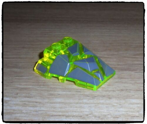 LEGO 64867px1 Wedge Brick 4 x 4 Fractured Polygon Top Transparent Neon Green x1 LEGO Bausteine & Bauzubehör