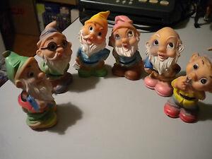 7-NAINS-JOUET-jouet-VINTAGE-della-CAOUTCHOUC-TOYS-anni-60-70-7-pieces