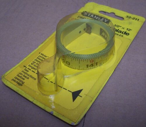 STANLEY 32-211 1//2 x 12 ft Replacement Tape Rule Blade vintage made in USA