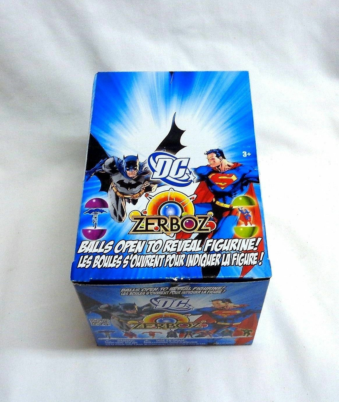 DC Comics Zerboz Heroics Series 1 Mini Figure Vendor Box 48 Pieces Sealed RARE