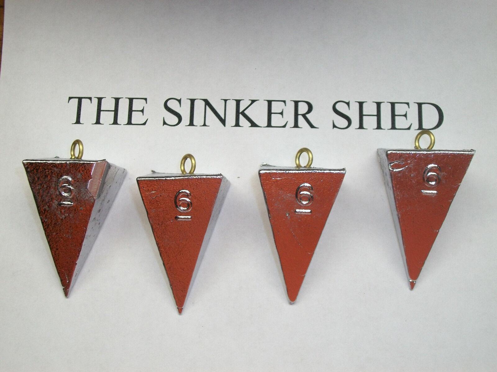6 oz pyramid sinkers - choose quantity 6 12 25 50 100 - FREE SHIPPING