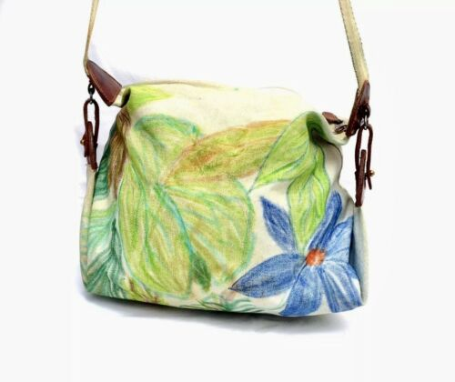 Mulberry Company Floral Pattern Canvas Hobo Bag -