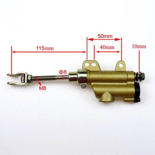 10mm Rear Foot Hydraulic Brake Master Cylinder Pump Pit Mini Bike GoKart Trolley