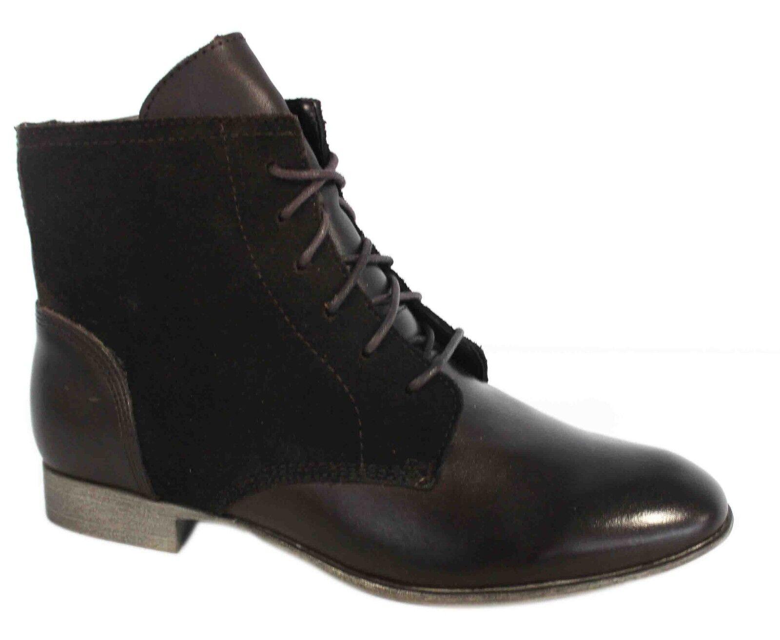 Hush Puppies Farland Ankle Leather Dark braun Stiefel schuhe damen H506631 U98