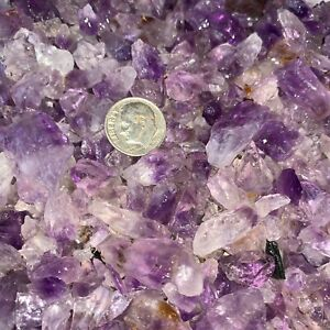3000-Carat-Lots-of-SMALL-Amethyst-Points-Plus-a-FREE-Faceted-Gemstone