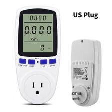 Lcd Digital Display Us Electricity Monitor Power Energy Usage Meter Wattmeter
