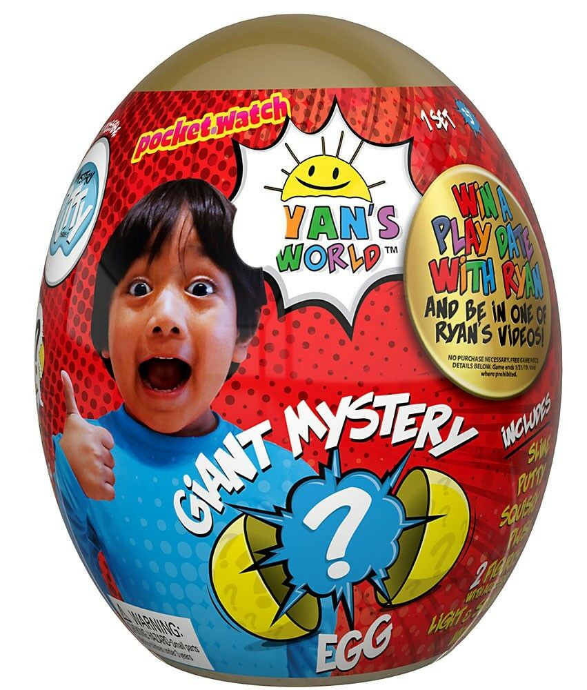 Ryan's World Giant Egg Exclusive Mystery Surprise