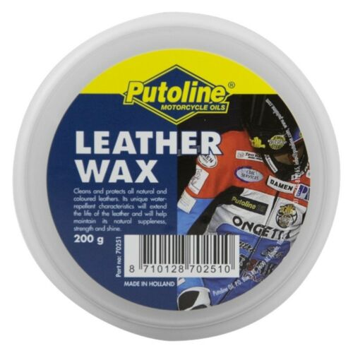 Putoline Leather Wax 200gm Motorcycle Boots Gloves Jacket Race Suit Protects