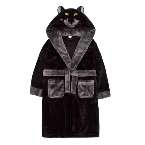 Older Boys Dressing Gown Novelty Hooded Super Soft Coral Fleece 7-13 years